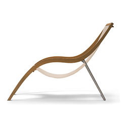 Skagerak - Skagerak - Lido Lounge Chair Outdoor/Indoor - Lido is the ultimate marriage of aesthetics and function. With its elegant, supple styling, this chair is a sculpture in its own right. It is beautiful yet comfortable; weather resistant yet highly usable either outdoors or indoors. Lido is made of solid teak, stainless steel, and unique texteline covers. Texteline does not absorb water, it can take exposure to UV rays without fading and lets your skin breathe as you sunbathe.