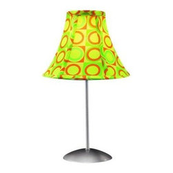 Lumisource - Lumisource 15.5 in. Green and Yellow Table Lamp LS-RETRO GUAC - Shop for Lighting & Fans at The Home Depot. Enjoy a blast from the past with this colorful Retro accent lamp. A groovy patterned fabric shade sits atop a powder-coated silver pole and base. Any lamp can brighten up a room, but the Retro lamp will put a smile on your face in the process.