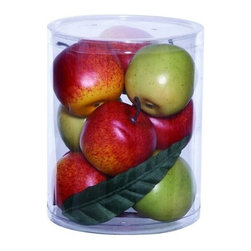 "Benzara - Gift Box Well Shaped Large in Lush Red and Green Apples - Gift Box Well Shaped Large in Lush Red and Green Apples. Add a garden-fresh appearance to your home interiors with this large apples gift box that makes a perfect accessory for table settings. It includes lush green and red apples, making it an ideal choice of gift for anyone who wants to enhance the appeal of their interior decor. It comes with a dimension of 8"" H x 6"" W x 6"" D."