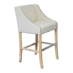 Great Deal Furniture Springfield Single Light Beige Fabric Counter Stool