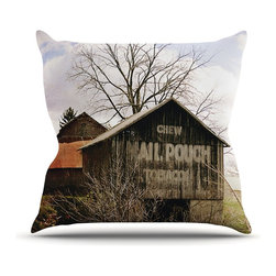 """Kess InHouse - Angie Turner """"Mail Pouch Barn"""" Wooden House Throw Pillow (Outdoor, 26"""" x 26"""") - Decorate your backyard, patio or even take it on a picnic with the Kess Inhouse outdoor throw pillow! Complete your backyard by adding unique artwork, patterns, illustrations and colors! Be the envy of your neighbors and friends with this long lasting outdoor artistic and innovative pillow. These pillows are printed on both sides for added pizzazz!"""