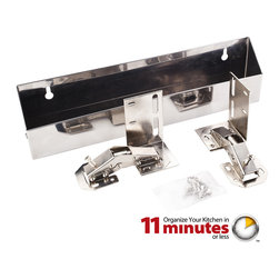 "Hardware Resources - 11-3/4"" Stainless Steel Tipout 2 Shallow Tray Set - 11 3/4"" Shallow Sink Tipout Tray Pack.  Stainless Steel.  1 9/16"" Deep x 3"" Tall.  Sold per pair.  Two sets of hinges  two trays  and 20pcs screws included."