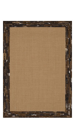 "Loloi Rugs - Loloi Rugs Timboroa/Hemingway Collection - Natural/Saddle, 5'-0"" x 7'-6"" - The Timboroa Collection evokes a sense of rugged adventure, along with a certain level of modern simplicity. Made in China of flat woven sisal and a hand stitched natural cowhide border, this versatile collection settles nicely in a cozy cabin setting, or adds a touch of southwestern appeal to any space."