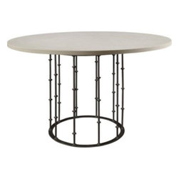 783-10 & 784-81-Astor Center Table with Stone Top -