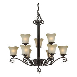 Talista - Talista Chandeliers 9-Light Antique Bronze Chandelier with Umber Glass Shade - Shop for Lighting & Ceiling Fans at The Home Depot. The Burton Collection supplied by CLI features a wide variety of classic fixtures. If you are looking for a sensible way to dress up a room there is no better choice than this 9-Light Chandelier in an Antique Bronze Finish complimented by Shaded Umber Glass. From the modest chandeliers to the more rustic outdoor lighting the Burton Collection will add a charming accent to any application.