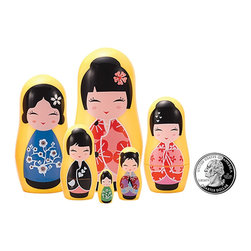 "The Original Toy Company - The Original Toy Company Kids Children Play Kokeshi Micro - These great micro size nesting dolls range in size from 3.25"" tall to a mere 3/4 of an inch"" per set Collect them all. Gender: Both. Weight: 1 lbs."