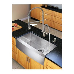 Vigo Industries - 22.25 in. Kitchen Sink and Faucet Set - Give your kitchen a fresh new look with a VIGO All in One Kitchen Set.
