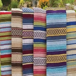 Colorful Mexican Blanket - I love all of these and can't even decide which I would choose.