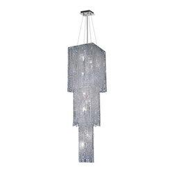 Elegant Lighting - Elegant Lighting 1299G63C-CL Moda 9-Light, Three-Tier Crystal Chandelier, Finish - Elegant Lighting 1299G63C-CL Moda 9-Light, Three-Tier Crystal Chandelier, Finished in Chrome with Clear CrystalsElegant Lighting 1299G63C-CL Features:
