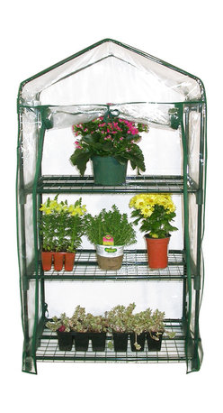 Alpine Corporation - Alpine 3-Tier Portable Greenhouse Planter - Perfect for your home or garden, this compact 3-tier portable greenhouse is ideal for extending the growing season. Featuring a powder-coated steel frame construction with UV-treated plastic cover to accommodate any climate.