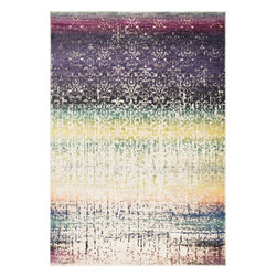 "Loloi Rugs - Loloi Rugs Lyon Collection, Purple and Multi, 3'-9""x5'-2"" - If you enjoy admiring artwork on the wall, you may want to consider the Lyon Collection as as painterly masterpiece for your floor. From Egypt, these contemporary rugs have been inspired by Western European and South American watercolor paintings. And because they're power loomed of 100% polypropylene, a durable and stain resistant fiber, the colors will remain vibrant for years ahead."