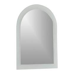 Decor Wonderland Mirrors - Decor Wonderland Serenity Modern Bathroom Mirror - This large frameless wall mirror features a unique sandblasted border. Add this mirror to any room in your home to reflect, illuminate and impress your guests. The invisible mounting hardware is designed to keep the top and bottom of the mirror flush against the wall.