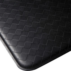 "Imprint Comfort Mats - Imprint Cumulus9 Comfort Mat 26 X 48, Black, 26"" X 48"", Nantucket - Number One Consumer Rated Anti Fatigue Comfort Mat.   Sink your feet into the Cumulus9 with its proprietary Multi-Core Technology. Feel how it conforms to the shape of your feet and supports your arches for relief of back, leg and foot discomfort. The advantage is its proprietary multilayer cushioning system. The soft, upper layer luxuriously cushions your feet while the firm, lower layer provides soothing support. You will want an Imprint Comfort Mat everywhere you work and stand - kitchen, laundry, bathroom, garage, workshop and more. University tested and proven by the Center for Ergonomics to reduce overall fatigue and discomfort by up to 60%. No-curl edges and stay-flat memory ensure Imprint Mats will not  curl like other mats. Environmentally friendly, non-toxic and phthalate free .Safe for children and pets. 7-year warranty. 100% satisfaction guarantee."