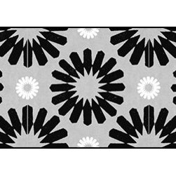 Casart coverings - Spinwheel, Black/Grey/White Wallcoverings, Black/Grey/White, Small Roll (37 Sq F - Add some Marrakesh style to your home dcor with this Moroccan-inspired collection of faux tile patterns.