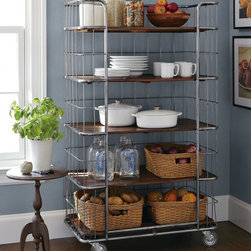 Ramsey Rolling Rack - Many apartment kitchens lack storage and pantry room. A baker's rack can act as storage for dishes and jars of ingredients while still adding style and charm.