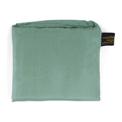 Yala® - Yala® Silk Pocket Pillowcase, Surf - Handy for travel, Yala's roomy Pocket Pillowcase folds up neatly into a sewn-in pocket for easy packing. 100% silk comfort means you'll want to unpack it at home too. In many delicious colors, the Pocket Pillowcase also makes a great gift for a frequent flyer.