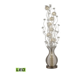 Dimond Lighting - Silver 10-Light Floor Lamp - Dimond Lighting D2716 10-Light Floor Lamp in Silver