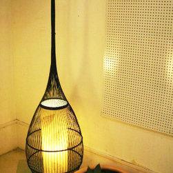 Natural Bamboo Floor Lamp -