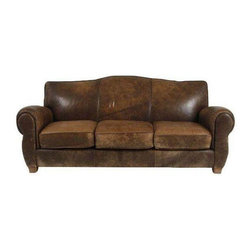 Distressed Leather Couch - $5,000 Est. Retail - $2,400 on Chairish.com -