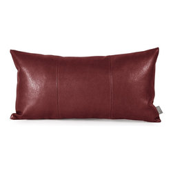 Howard Elliott - Avanti Kidney Pillow - Change up color themes or add pop to a simple sofa or bedding display by piling up the pillows in a multitude of colors, textures and patterns. This Avanti Pillow features a bold apple red color, textured grain and a paneled design to give the look of true leather.