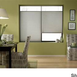 None - Top-down/ Bottom-up Cordless Cellular Shades - Top-down bottom-up cordless cellular shades are designed to maximize your privacy and light control.  Safe,simple,and great looking,these energy-efficient shades are perfect for homes with small children and pets.