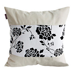 Blancho Bedding - Floral Wedding Linen Patch Work Pillow Floor Cushion  19.7 by 19.7 inches - Aesthetics and Functionality Combined. Hug and wrap your arms around this stylish decorative pillow measuring 19.7 by 19.7 inches, offering a sense of warmth and comfort to home buddies and outdoors people alike. Find a friend in its team of skilled and creative designers as they seek to use materials only of the highest quality. This art pillow by Onitiva features contemporary design, modern elegance and fine construction. The pillow is made to have invisible zippers, linen shells and fill-down alternative. The rich look and feel, extraordinary textures and vivid colors of this comfy pillow transforms an ordinary, dull room into an exciting and luxurious place for rest and recreation. Suitable for your living room, bedroom, office and patio. It will surely add a touch of life, variety and magic to any rooms in your home. The pillow has a hidden side zipper to remove the center fill for easy washing of the cover if needed.