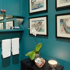 Traditional Powder Room by Shannon Kaye