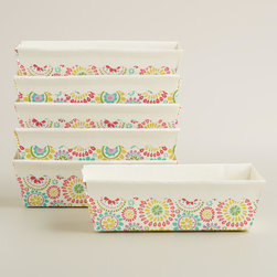 Floral Paper Loaf Pans, Set of 6 - Even your meatloaf and banana bread can have some flower power when you add these fun loaf pans to your collection.