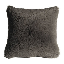Pillow Decor - Pillow Decor - Soft Plush Gray 20 x 20 Throw Pillow - This fantastic 20 x 20 dark gray throw pillow is irresistibly plush and soft. The pillow is so cozy and fun that you won't be able to take your hands off it. They are versatile for every room and the kids will love them.