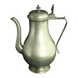 EuroLux Home - Consigned Vintage Belgian Pewter Lidded Pitcher Flagon - Product Details