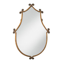 """Uttermost - Iron Uttermost Ablenay Hand Forged Frame 37"""" High Mirror - This is my favorite mirror! I would hang it in a child's room or in a whimsical powder room. I think the shape is fantastic."""
