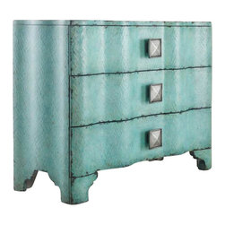 Hooker Furniture - Hooker Furniture Melange Turquoise Crackle Chest in Turquoise - Hooker Furniture - Chests - 63885016 - Come closer to Melange and you will discover something unexpected an eclectic blending of colors textures and materials in a vibrant collection of one-of-a-kind artistic pieces.