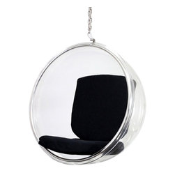 Fine Mod Imports - Bubble Hanging Black Accent Chair - Features: