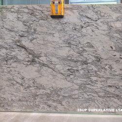 Granite & Marble Slabs - Superlative quartzite. Levantina. Natural Stone. Quartzite. Back-lit material. Bathroom vanity. Kitchen countertops. Grey quartzite, white quartzite. Alternative to marble.