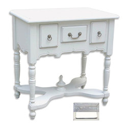 Tradewinds - Traditional and Vintage Table, Riverwash top with white - This traditional and vintage looking Victorian Entry Table will definitely add a sheer appeal to your house. All framing and structural components are solid hardwood with drawers running on metal glide. There are varied finishes or color options available from which you can select according to your preference. The structure is of solid hardwood that is made from plantation grown and kiln-dried mahogany and mindi as well as premium hardwood veneers. It has a unique design that exhibits class and style which will provide that particular area an unusual appeal where it will be placed. Make it a part of your home decor to exhibit your true taste for style!