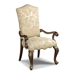 Hooker Furniture - Decorator Chair - Dining Arm Chair 82 - White glove, in-home delivery!  For this item, additional shipping fee will apply.  Fabric: Lillian Tush  Finish: Grand Palais  Side chair is in a set of two chairs.  Arm chair sold individually.