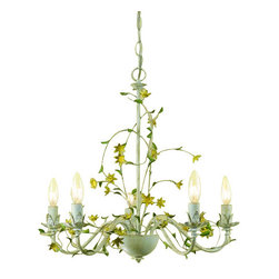 "AF Lighting - AF Lighting 7046-5H Elements Series ""Star Flower"" Five-Light Chandelier with Cut - Features:"