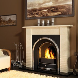 Planika 16'' x 15'' A-05 Insert/Freestanding Fireplace - The A-05 insert is just perfect to bring your old non working fireplace back to life. This bio fire insert does not require a chimney installation so it's ready to use moments after receiving it. To increase the visual spectacle of the dancing flames as well as to cater for the user's safety, the bio ethanol insert is equipped with two tempered glass shields.