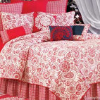 Borrego Red Quilt - Add country charm to your bedside with this beautiful and warm red and white floral quilt.