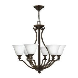 Hinkley Lighting - Hinkley Lighting 4656OB-OPAL Bolla Olde Bronze 6 Light Chandelier - Hinkley Lighting 4656OB-OPAL Bolla Olde Bronze 6 Light Chandelier