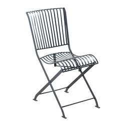 Betty Folding Chair-Grey - Product Features: