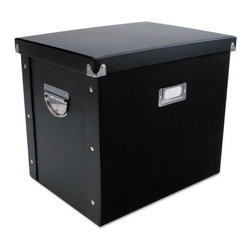 Advantus - Advantus File Box, 13 x 9 3/4 x 10 3/4, Letter, Paperboard, Black - Use for storing hanging file folders.