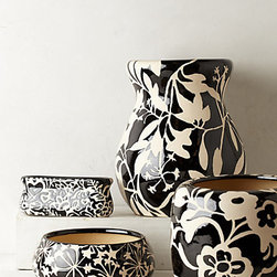 Fresco Garden Pot - These printed pots are lovely. I'm loving black and white this season, and I like that these come in different sizes. Houseplants most definitely need replanting now and then, and this collection gives you your pick of a variety of pretty containers.