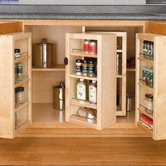kitchen cabinets by Rev-A-Shelf
