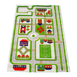Luca and Company - 3D Playcarpets, Traffic Green - IVI 3D Play Carpets are designed to stimulate and encourage children's play in a creative, entertaining and interactive way with room for friends to join in! No batteries required.