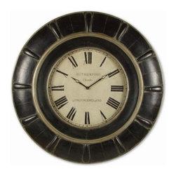 "UTTERMOST - Uttermost Rudy 37"" Oversized Wall Clock 6709 - This oversized wall clock features:"