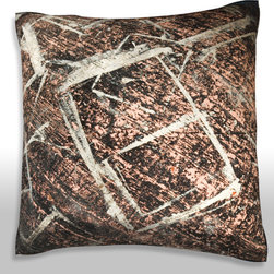 Custom Photo Factory - Abstract Shapes on Floor Pillow.  Polyester Velour Throw Pillow - Abstract Shapes on Floor Pillow. 18 Inches x 18  Inches.  Made in Los Angeles, CA, Set includes: One (1) pillow. Pattern: Full color dye sublimation art print. Cover closure: Concealed zipper. Cover materials: 100-percent polyester velour. Fill materials: Non-allergenic 100-percent polyester. Pillow shape: Square. Dimensions: 18.45 inches wide x 18.45 inches long. Care instructions: Machine washable