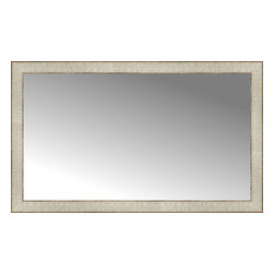 """Posters 2 Prints, LLC - 38"""" x 23"""" Libretto Antique Silver Custom Framed Mirror - 38"""" x 23"""" Custom Framed Mirror made by Posters 2 Prints. Standard glass with unrivaled selection of crafted mirror frames.  Protected with category II safety backing to keep glass fragments together should the mirror be accidentally broken.  Safe arrival guaranteed.  Made in the United States of America"""