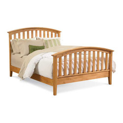 Mastercraft Collections - Mastercraft Collections Urban Homemaker Natural Slat Bed Solid Wood - The Urban Homemaker Slat Bed features a natural finish, which highlights its charming wood grain detailing. This contemporary bed showcases a sleek slatted design on the footboard and headboard.