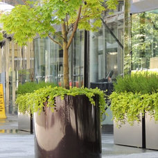 Contemporary Outdoor Planters by Object Outdoors Site Furnishings Inc
